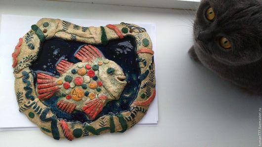 """Символизм ручной работы. Ярмарка Мастеров - ручная работа. Купить Керамическая рыба""""Аурум"""". Handmade. Керамика, рыба, ангобы"""
