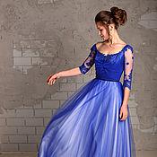 Одежда ручной работы. Ярмарка Мастеров - ручная работа Синее платье More. Handmade.