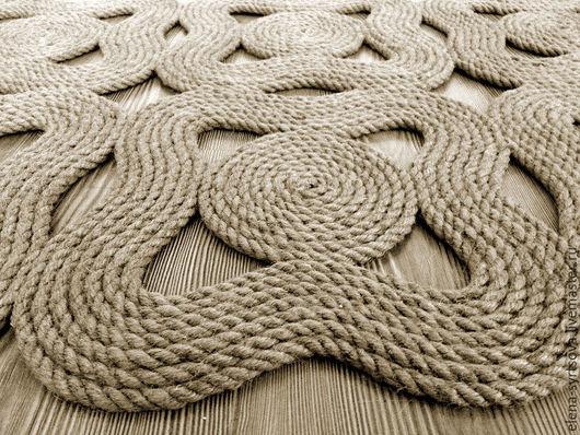 Коврик из джута, коврик из джутовой веревки, коврик интерьерный, коврик массажный, kovrik iz jute, rug from jute, rug from rope