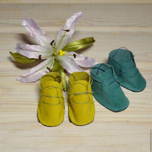 Куклы и игрушки ручной работы. Ярмарка Мастеров - ручная работа. Купить Ботиночки для кукол 6 см. Handmade. Ботиночки