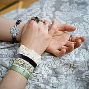 """Украшения ручной работы. Ярмарка Мастеров - ручная работа Браслет-манжета """"Сухоцвет"""". Handmade."""
