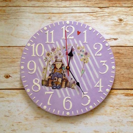 Детская ручной работы. Ярмарка Мастеров - ручная работа. Купить Комплект часы и вешалка для девочек. Handmade. Часы, бусы, интерьер