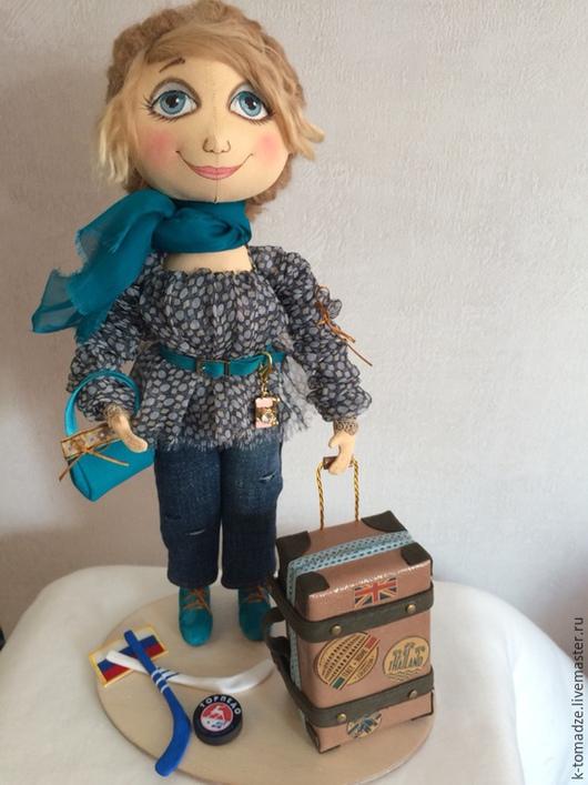 Коллекционные куклы ручной работы. Ярмарка Мастеров - ручная работа. Купить Путешественница. Handmade. Серый, путешественница, шерсть