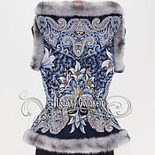 """Одежда ручной работы. Ярмарка Мастеров - ручная работа Жилет с отстегивающимся капюшоном """"Морозко-21"""" из ПП платка. Handmade."""