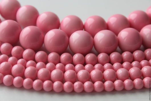 Для украшений ручной работы. Ярмарка Мастеров - ручная работа. Купить Розовый жемчуг майорка ( аналог) 6, 8, 16 мм полунить 20 см. Handmade.