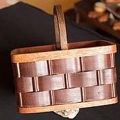 Для дома и интерьера ручной работы. Ярмарка Мастеров - ручная работа Корзина из дерева декоративная. Handmade.