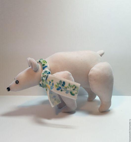 Игрушки животные, ручной работы. Ярмарка Мастеров - ручная работа. Купить мишка. Handmade. Белый, медведь полярный, мишка полярный