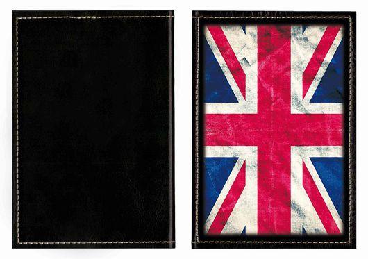 """Обложки ручной работы. Ярмарка Мастеров - ручная работа. Купить Обложка на паспорт или автодокументы """"Флаг Британии"""" (кожа). Handmade."""