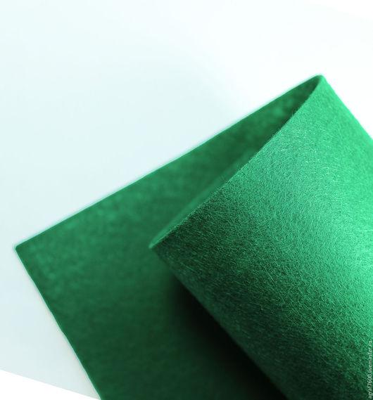 Для украшений ручной работы. Ярмарка Мастеров - ручная работа. Купить Фетр основа для вышивки 20х30 см А4 Зеленый. Handmade.