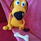 Мягкие игрушки ручной работы. Ярмарка Мастеров - ручная работа Собака, вязаная игрушка. Handmade.