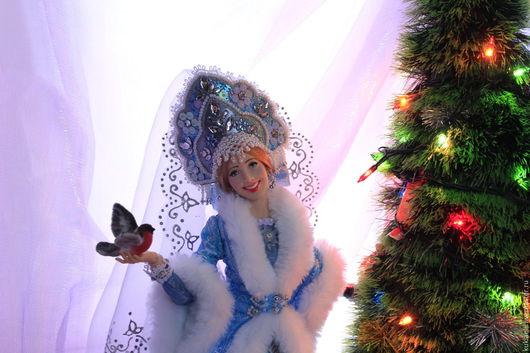 Коллекционные куклы ручной работы. Ярмарка Мастеров - ручная работа. Купить Кукла Снегурочка. Handmade. Снегурочка, тестиль