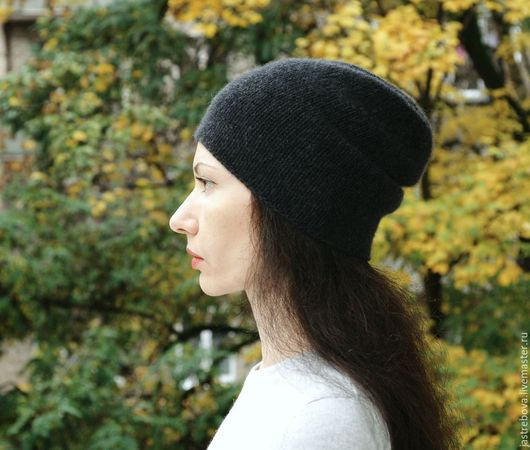 Шапки ручной работы. Ярмарка Мастеров - ручная работа. Купить Кашемировая шапка вязаная женская, мужская. Handmade.
