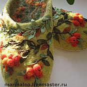 """Обувь ручной работы. Ярмарка Мастеров - ручная работа Тапочки"""" Рябинка"""". Handmade."""