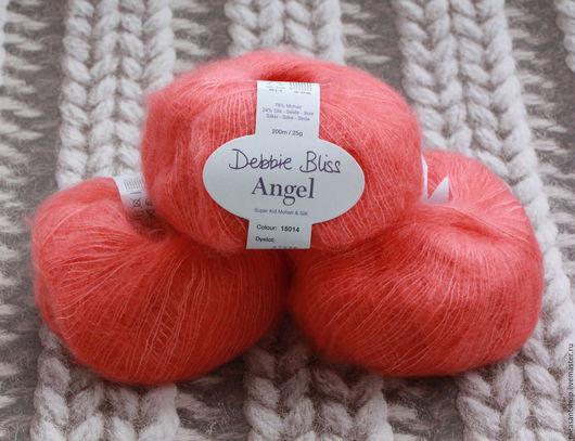Вязание ручной работы. Ярмарка Мастеров - ручная работа. Купить Debbie Bliss ANGEL Tangerine. Handmade. Оранжевый, тонкий мохер