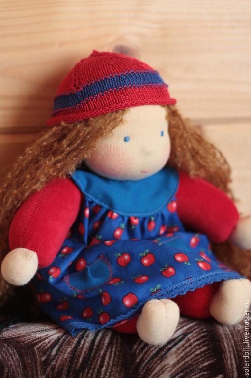 Маруся 33 см. Вальдорфская кукла.Julia Solarrain (SolarDolls) Ярмарка Мастеров