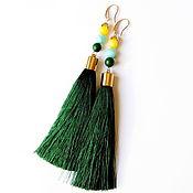 "Украшения handmade. Livemaster - original item Earrings-brushes ""July"". Handmade."