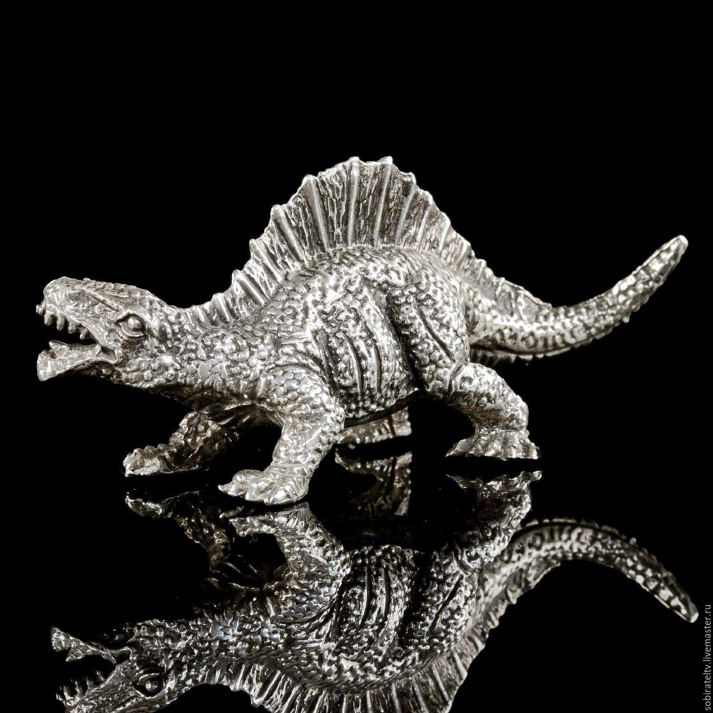 "Статуэтка ""Динозавр Уранозавр"".Серебро, Статуэтки, Москва, Фото №1"