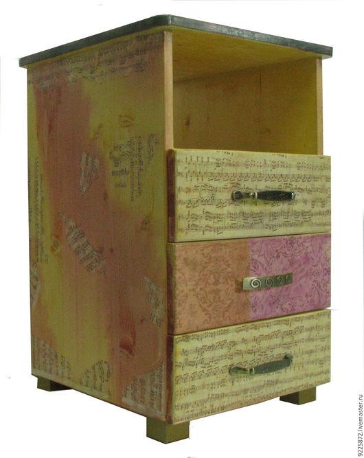 """Мебель ручной работы. Ярмарка Мастеров - ручная работа. Купить Дизайнерская тумбочка """"Ноты"""". Handmade. Дизайнерская мебель, авторская работа"""