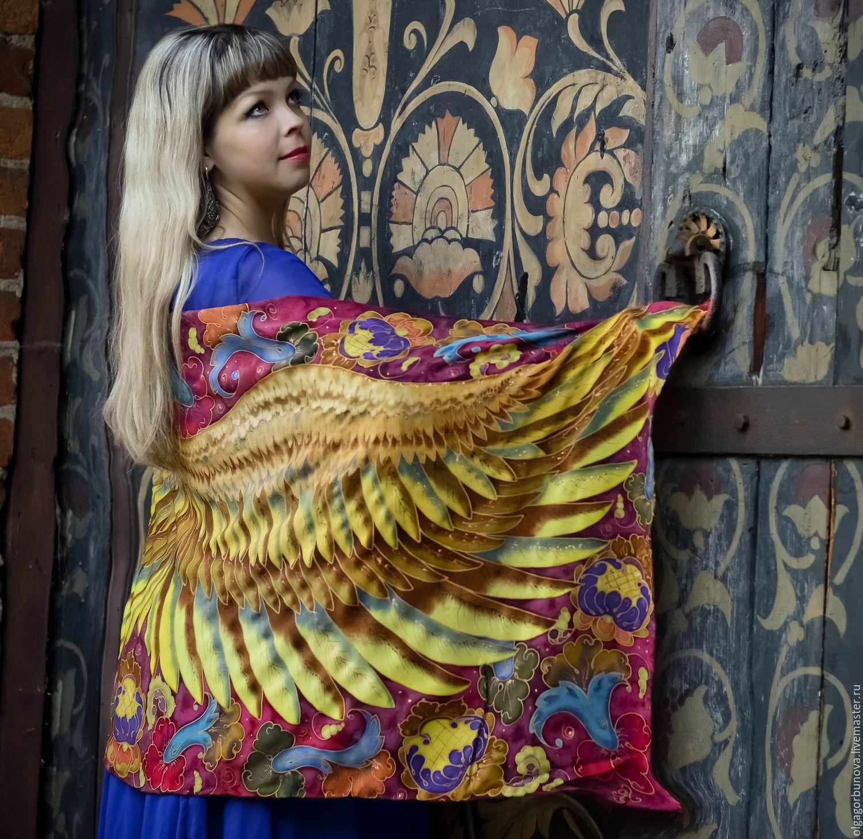 Batik stole 'Russian soul', Wraps, Yaroslavl,  Фото №1