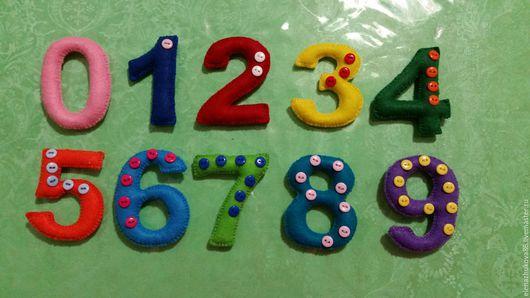 Развивающие игрушки ручной работы. Ярмарка Мастеров - ручная работа. Купить Цифры из фетра.. Handmade. Комбинированный, цифры из фетра, пуговицы