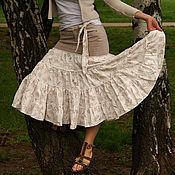 Одежда ручной работы. Ярмарка Мастеров - ручная работа Бохо-юбка Взбитые сливки. Handmade.