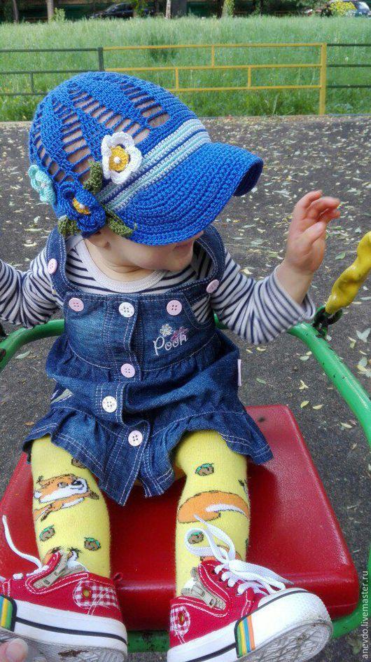 Шапки и шарфы ручной работы. Ярмарка Мастеров - ручная работа. Купить кепочка детская. Handmade. Комбинированный, кепка для девочки