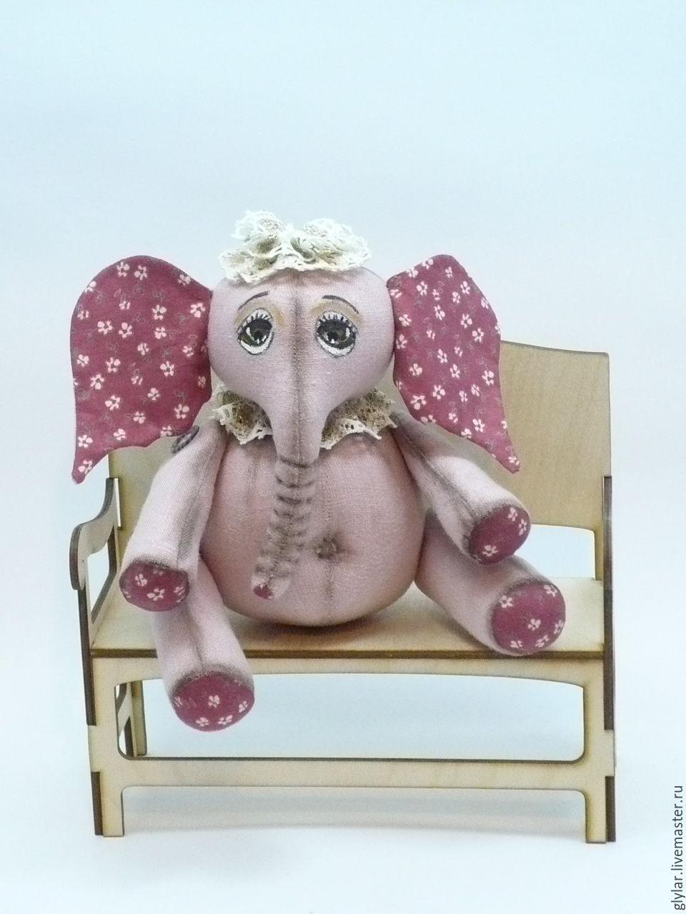 """Игрушки животные, ручной работы. Ярмарка Мастеров - ручная работа. Купить Игрушка слон из ткани """" Розовый слон"""". Handmade."""