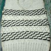 Одежда ручной работы. Ярмарка Мастеров - ручная работа Жилет из натурального козьего пуха ручного вязания очень нежная, тёпла. Handmade.
