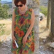 Одежда ручной работы. Ярмарка Мастеров - ручная работа Платье винтажное в зелень. Handmade.
