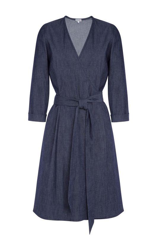 Платья ручной работы. Ярмарка Мастеров - ручная работа. Купить Джинсовое платье на запахе. Handmade. Джинсовый стиль, джинсовая ткань