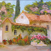 Картины и панно handmade. Livemaster - original item Oil painting Spring in Crimea. Handmade.