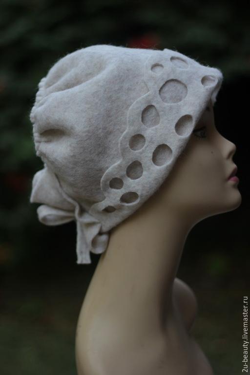 Шляпы ручной работы. Ярмарка Мастеров - ручная работа. Купить Шляпка из валяной шерсти. Ретро стиль. Дизайнерская шапка.. Handmade.