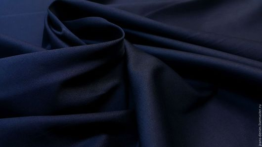 Шитье ручной работы. Ярмарка Мастеров - ручная работа. Купить Твил темно-синий стрейч. Handmade. Тёмно-синий, пиджак