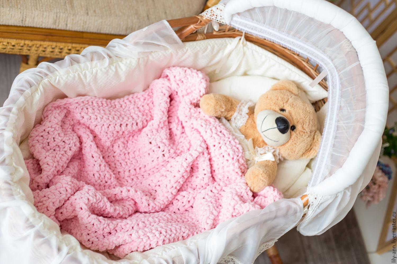 Детский плед, плед для новорожденного, конверт на выписку, вязаный плед, плед на выписку, плед для ребенка, плед для малыша, плед для девочки, плед в детскую, детский плед вязаный