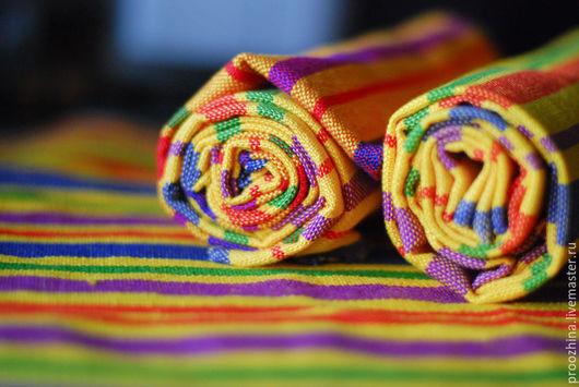 Текстиль, ковры ручной работы. Ярмарка Мастеров - ручная работа. Купить Домотканые хлопковые салфетки, мексиканский мотив. Handmade. Комбинированный