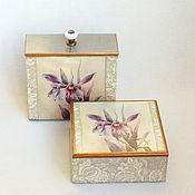 Для дома и интерьера ручной работы. Ярмарка Мастеров - ручная работа Коробы для хранения Орхидея Виктория. Handmade.