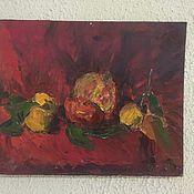 Картины и панно ручной работы. Ярмарка Мастеров - ручная работа Гранат на красном фоне. Handmade.