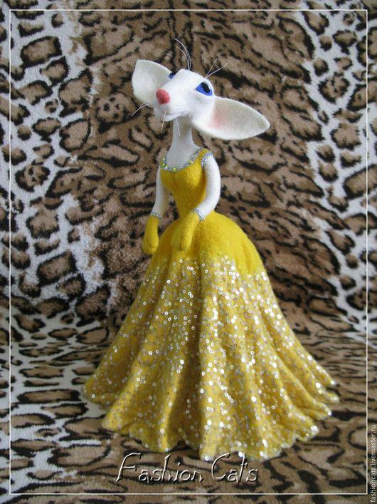 Коллекционные куклы ручной работы. Ярмарка Мастеров - ручная работа. Купить Сиамочка в Солнечном. Handmade. Желтый, интерьерная игрушка