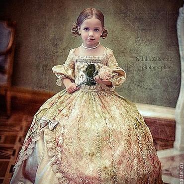 Работы для детей, ручной работы. Ярмарка Мастеров - ручная работа Кукольно-принцесное платье. Handmade.