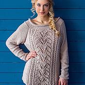 Одежда ручной работы. Ярмарка Мастеров - ручная работа Вязаный свитер «Миндальное молоко». Handmade.