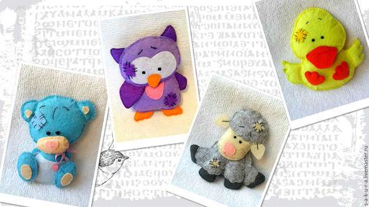 Игрушки животные, ручной работы. Ярмарка Мастеров - ручная работа. Купить Игрушки в стиле Мишки Тедди. Handmade. Комбинированный, утенок