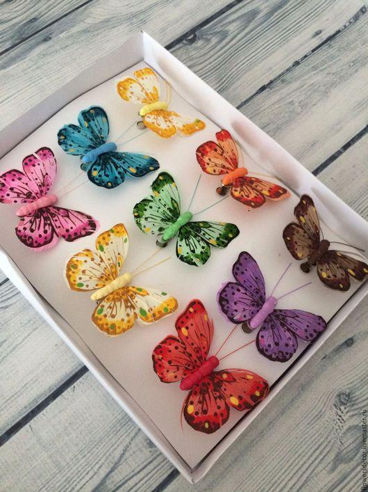 Материалы для флористики ручной работы. Ярмарка Мастеров - ручная работа. Купить Бабочки.. Handmade. Комбинированный, бабочки