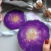 Подставки ручной работы. Ярмарка Мастеров - ручная работа Подстаканники (костеры) «Сиреневый закат». Handmade.