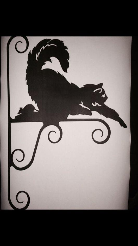 Экстерьер и дача ручной работы. Ярмарка Мастеров - ручная работа. Купить Подвес для кашпо Кот с мышкой. Handmade. Кашпо, кронштейн
