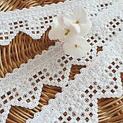 Для дома и интерьера handmade. Livemaster - original item Curtains: Embroidered openwork border for the shelf. Decor furniture. Cozy house.. Handmade.