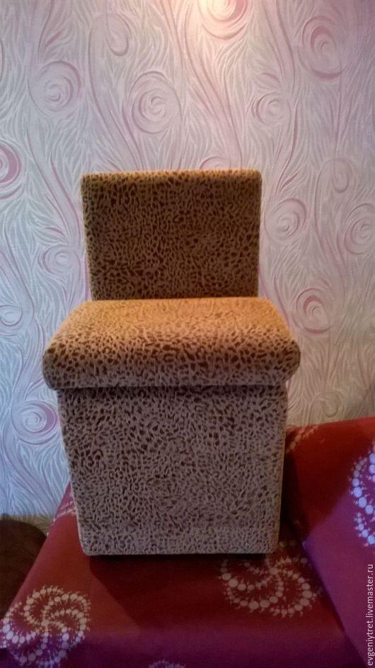 Мебель ручной работы. Ярмарка Мастеров - ручная работа. Купить Пуфик со спинкой. Handmade. Бежевый, Мебельная ткань