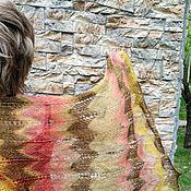 """Аксессуары ручной работы. Ярмарка Мастеров - ручная работа 5300руб!Палантин """"Глинтвейн"""" из супер кид-мохера на шелке. Handmade."""