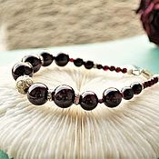 Украшения handmade. Livemaster - original item The garnet bracelet