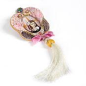 """Украшения ручной работы. Ярмарка Мастеров - ручная работа Брошь """"Одри"""" в розовом ( воздушная брошь, кулон, розовый). Handmade."""