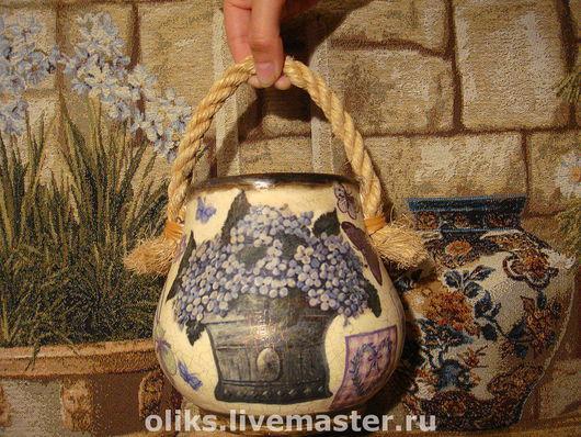 Decorative Tableware handmade. Livemaster - handmade. Buy The pot of happiness.Lilac, napkins